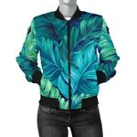 Green Banana Leaf Pattern 3D Printed Unisex Jacket