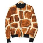 Brown Watercolor Giraffe Pattern 3D Printed Unisex Jacket
