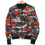 Orange Black And Grey Camouflage  3D Printed Unisex Jacket