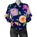 Dahlia Flower Pattern 3D Printed Unisex Jacket