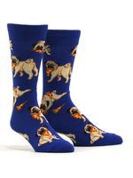 Men's Pug Pizza Party Socks Comfortable Funny Cute Unique Socks