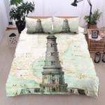 Lighthouse Vintage Printed Bedding Set Bedroom Decor