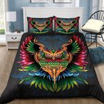 Colorful Owl Pattern Printed Bedding Set Bedroom Decor