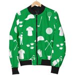 Tool For Play Golf Green Pattern 3D Printed Unisex Jacket