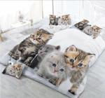 Cute Baby Cats Printed Bedding Set Bedroom Decor