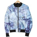 Purple Blue Marble 3D Printed Unisex Jacket
