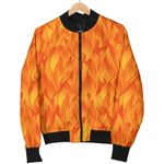 Flame Hot Fire Pattern 3D Printed Unisex Jacket