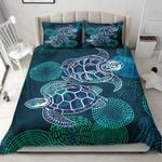 Turtle Couple Blue Pattern Bedding Set Bedroom Decor