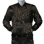 Gold Dahlia Pattern 3D Printed Unisex Jacket