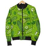 Pickle Cucumber Slice Pattern 3D Printed Unisex Jacket