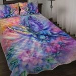 Luxury Butterfly Painting Bedding Set Bedroom Decor