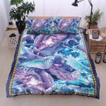 Blue Unicorn Color 3D Bedding Set Bedroom Decor