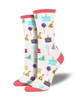 "Women's ""Happy Birthday To You"" Socks Comfortable Funny Cute Unique Socks"