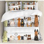 Funny Multi Dogs  Printed Bedding Set Bedroom Decor