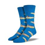 Trout Go Fishing Blue Printed Crew Socks