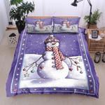 Christmas Smiling Snowman  Printed Bedding Set Bedroom Decor