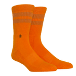 Cotton Casuals - Citrus Stripes Lovely Birthday Gift For Men Women Comfortable Unique Socks