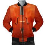 Retro Orange  Cello 3D Printed Unisex Jacket