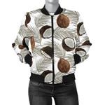 Gray Leaves Coconut Pattern 3D Printed Unisex Jacket