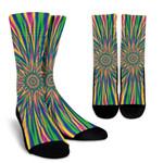 Vibrant Psychedelic Optical Illusion Unisex Crew Socks