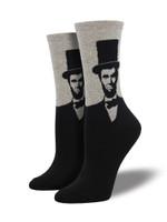 Women's Lincoln Portrait Socks Comfortable Funny Cute Unique Socks