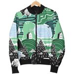Mountain Cartoon Pattern 3D Printed Unisex Jacket