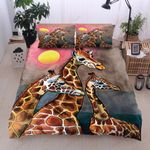 Giraffe Family Full Moon Printed Bedding Set Bedroom Decor