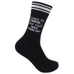 """""""I Used to Drink...Hours Ago"""" Socks Gift Ideas For Men Women Comfortable Funny Unique Socks"""