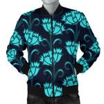 Mint Carnations Pattern 3D Printed Unisex Jacket