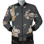 Cute Koala Pattern 3D Printed Unisex Jacket