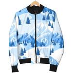 Winter Mountain Snow Pattern 3D Printed Unisex Jacket