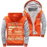 Million Kind Of Girl Female Veteran Orange Team 3D Printed Unisex Fleece Zipper Jacket