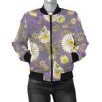 Daisy Pattern  Gold 3D Printed Unisex Jacket
