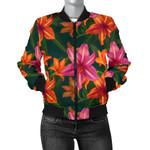 Amaryllis Pattern Vintage 3D Printed Unisex Jacket