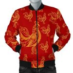 Gold Rooster With Red Pattern 3D Printed Unisex Jacket