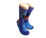 Disney Lilo And Stitch  Blue Printed Crew Socks