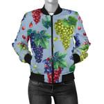 Grape Pattern Light Blue 3D Printed Unisex Jacket