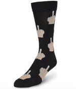 Men's-Middle Finger Socks (grey & black & red) Comfortable Funny Cute Unique Socks