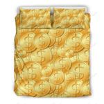 Dollar Lucky Bitcoint Printed Bedding Set Bedroom Decor