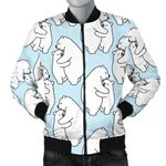 Polar Bear Mommy And Baby Pattern 3D Printed Unisex Jacket