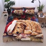Poodle Christmas Tired Bedding Set Bedroom Decor