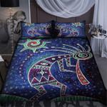 Kokopelli Blue Sky Pattern Bedding Set Bedroom Decor