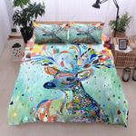 Blue Beautiful Deer Colorful Bedding Set Bedroom Decor