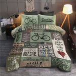 Cycling Keep Calm And Bike On Printed Bedding Set Bedroom Decor