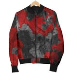 Black And Red Camouflage  3D Printed Unisex Jacket