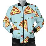 Delicious Pizza Blue Backdrop 3D Printed Unisex Jacket