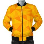 Triangle Yellow Pattern 3D Printed Unisex Jacket