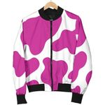 Hot Pink And White Cow 3D Printed Unisex Jacket