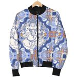 Ganesha Blue  Pattern 3D Printed Unisex Jacket