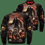 Death And Dog Black 3D Printed Unisex Bomber Jacket